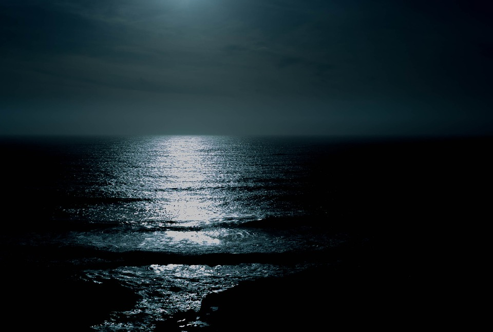 Scene Ocean At Night Beauty Night Beach Water Life